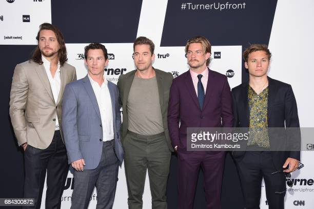 Ben Robson Shawn Hatosy Scott Speedman Jake Weary and Finn Cole attend the Turner Upfront 2017 arrivals on the red carpet at The Theater at Madison...