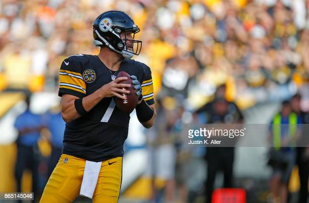 Ben Roethlisberger of the Pittsburgh Steelers drops back to pass in the first quarter during the game against the Cincinnati Bengals at Heinz Field...