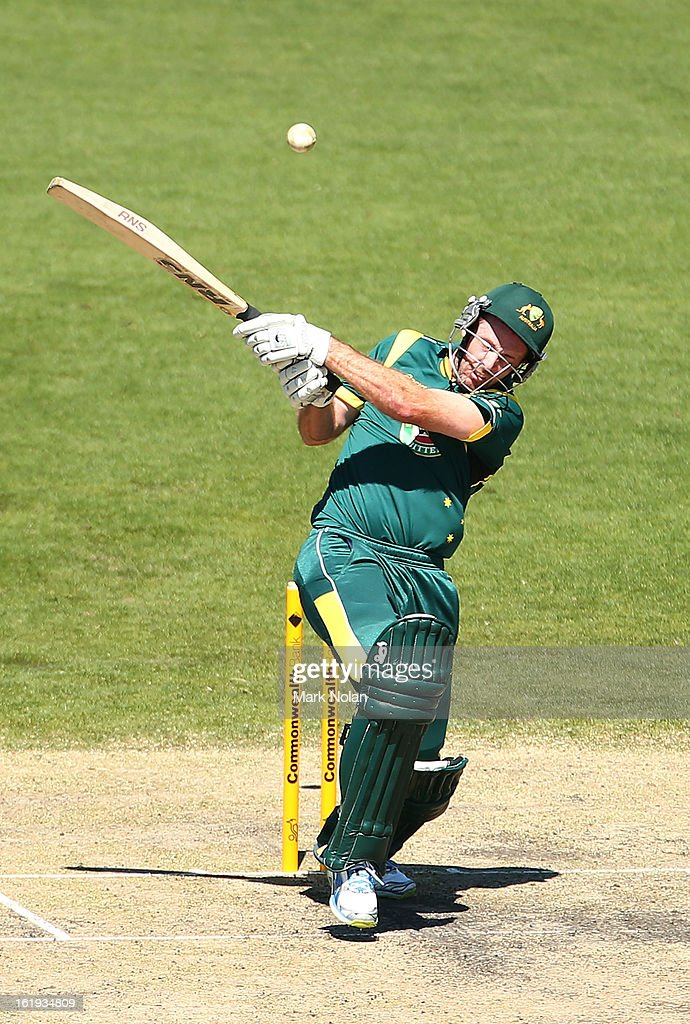 Ben Rohrer of Australia A bats during the international tour match between Australia 'A' and England at Blundstone Arena on February 18, 2013 in Hobart, Australia.