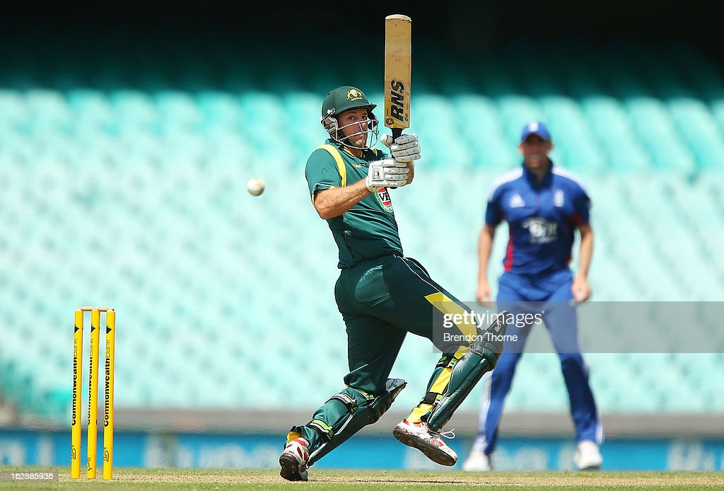 Ben Rohrer of Australia 'A' bats during the International Tour match between Australia 'A' and the England Lions at Sydney Cricket Ground on February 25, 2013 in Sydney, Australia.