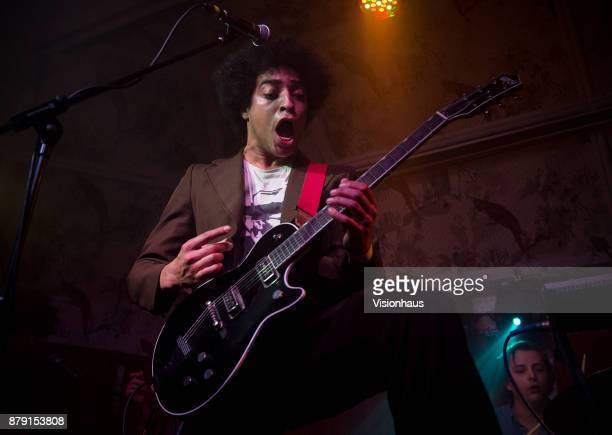 Ben RomansHopcraft lead singer with Childhood performs with the band at the Deaf Institute Manchester on November 22 2017 in Manchester England