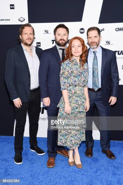 Ben Roy Adam CaytonHolland Maria Thayer and Andrew Orvedahl attends the Turner Upfront 2017 arrivals on the red carpet at The Theater at Madison...