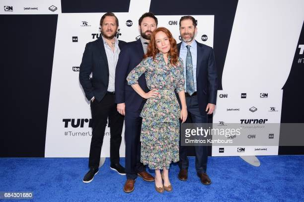 Ben Roy Adam ClaytonHolland Maria Thayer and Andrew Orvedahl attend the Turner Upfront 2017 arrivals on the red carpet at The Theater at Madison...
