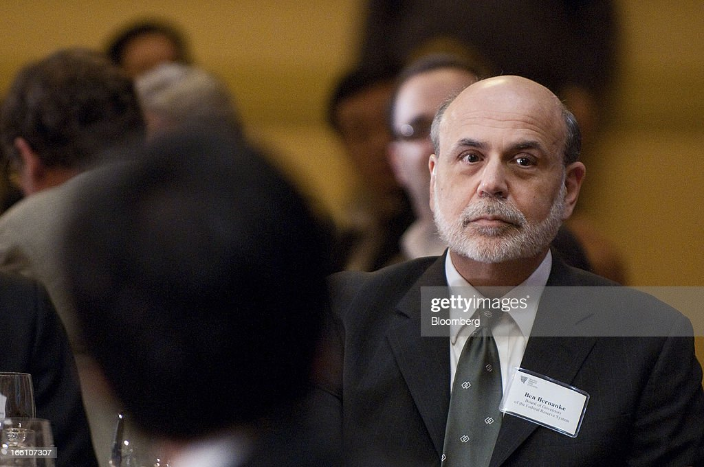 Ben S. Bernanke, chairman of the U.S. Federal Reserve, attends the Federal Reserve Bank of Atlanta 2013 Financial Markets Conference in Stone Mountain, Georgia, U.S., on Monday, April 8, 2013. Bernanke said the Fed plans to avert strains in the banking system by pushing financial companies to better manage liquidity risk and reduce reliance on wholesale funding. Photographer: Joeff Davis/Bloomberg via Getty Images