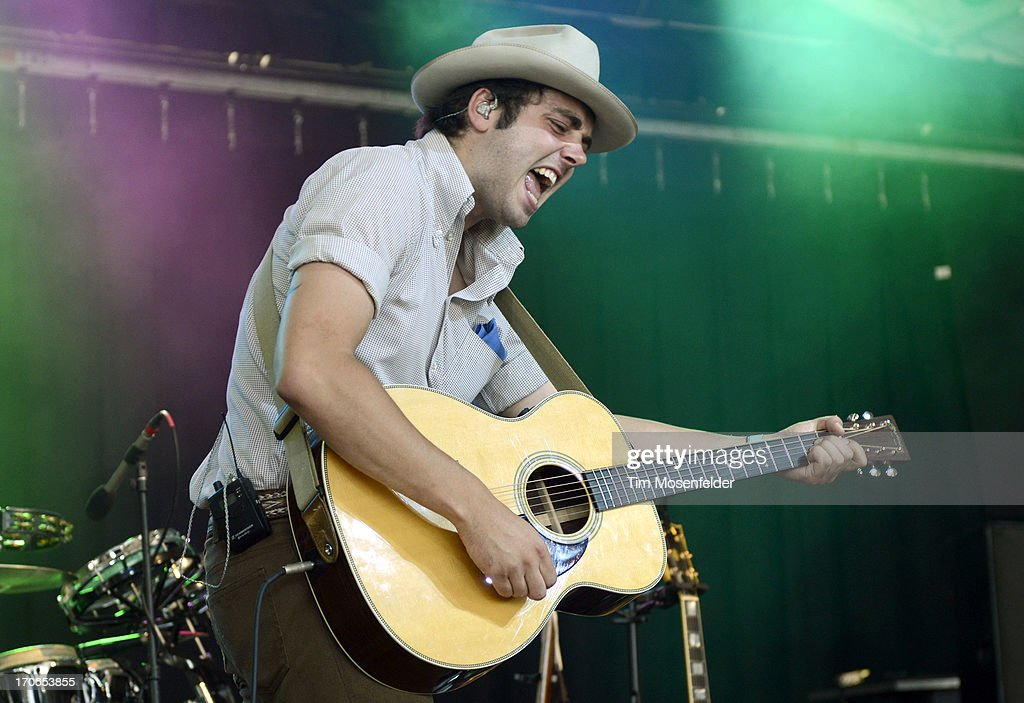 Ben Schneider of Lord Huron performs as part of Day 3 of the Bonnaroo Music And Arts Festival on June 15 2013 in Manchester Tennessee