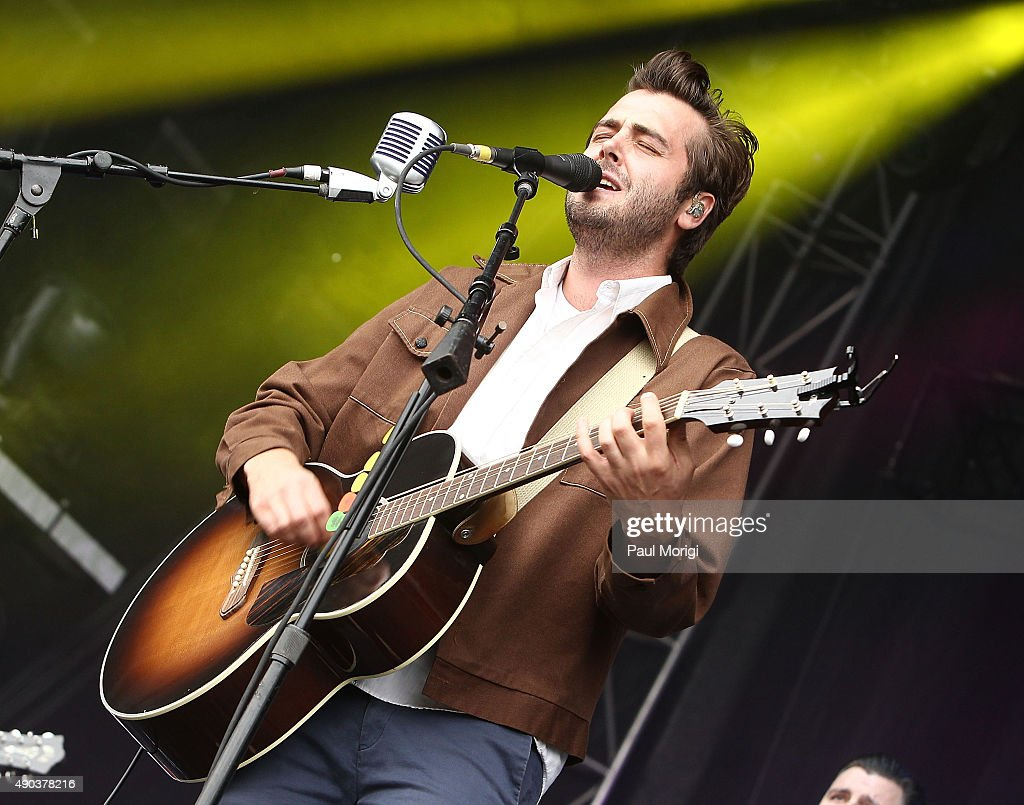 Ben Schneider of Lord Huron performs at the 2015 Landmark Music Festival at West Potomac Park on September 27 2015 in Washington DC