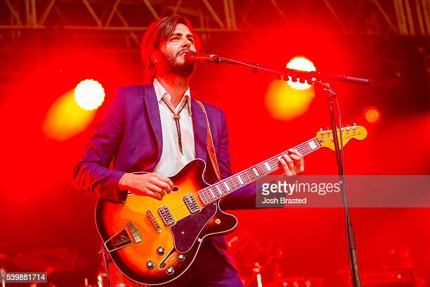 Ben Schneider of Lord Huron performs during the Bonnaroo Music Arts Festival on June 12 2016 in Manchester Tennessee
