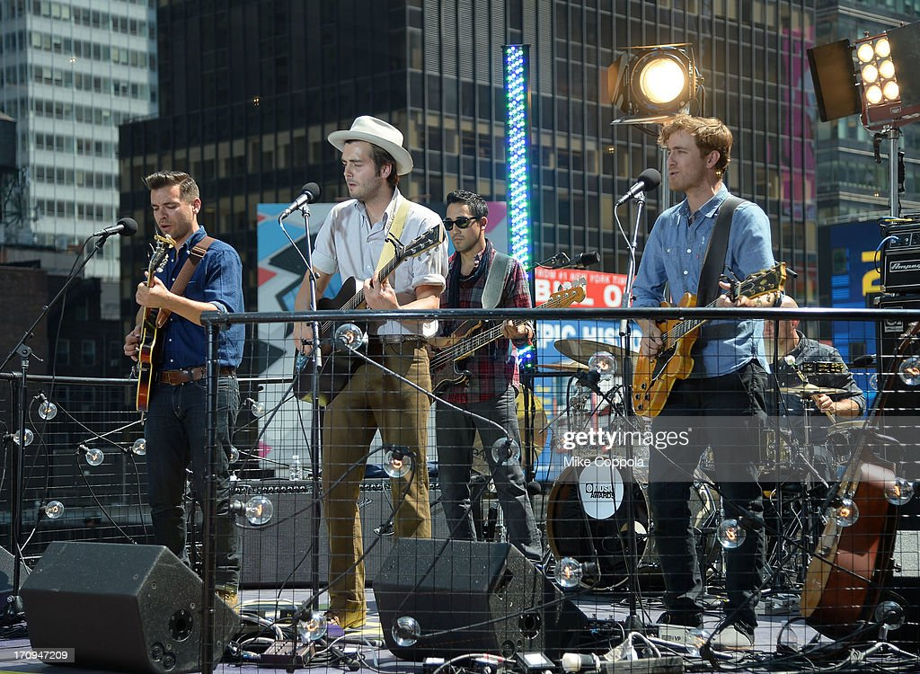 Ben Schneider of Lord Huron performs during the MTV VH1 CMT LOGO 2013 O Music Awards on June 20 2013 in New York City