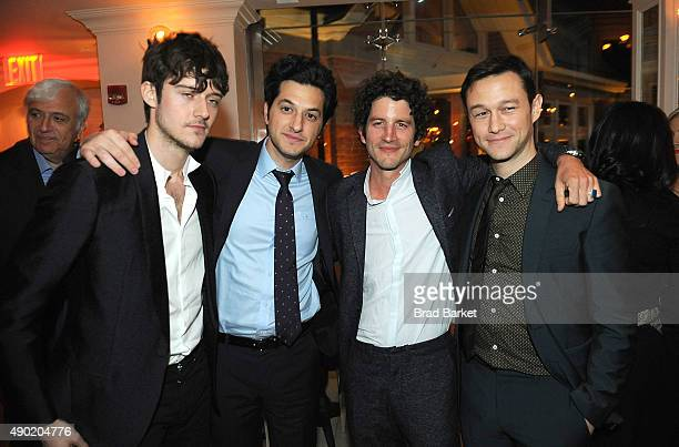 Ben Schwartz Cesar Domboy Clement Sibony and Joseph GordonLevitt attend the 53rd New York Film festival opening night gala presentation and 'The...