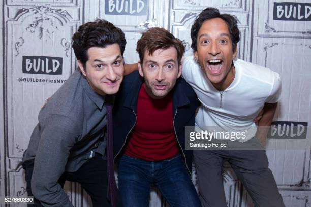 Ben Schwartz David Tennant and Danny Pudi attend Build Presents to discuss the beboot Of 'Duck Tales'at Build Studio on August 8 2017 in New York City