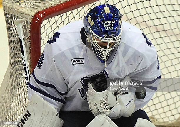 Ben Scrivens made 37 saves as the Toronto Marlies beat the Abbotsford Heat 51 to even up their second round series 11 at the Ricoh Coliseum in...