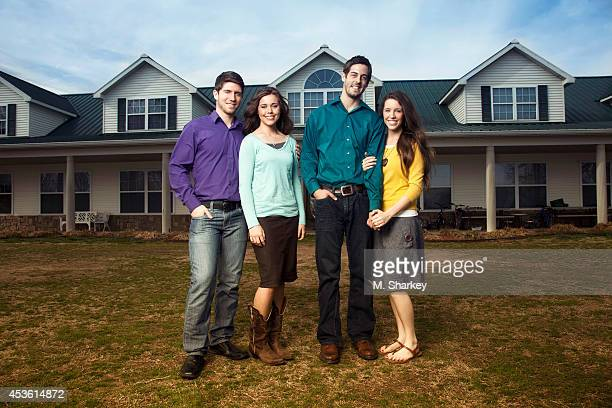Ben Seewald Jessa Duggar Jill Duggar and Derick Dillard are photographed for People Magazine on March 30 2014 in Bentonville Arkansas