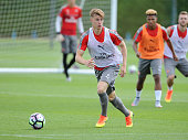 Ben Sheaf of Arsenal during a training session at London Colney on July 21 2016 in St Albans England