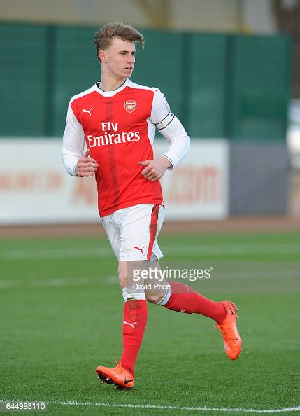 Ben Sheaf of Arsenal during the match between Arsenal U23 and Chelsea U23 at London Colney on February 24 2017 in St Albans England