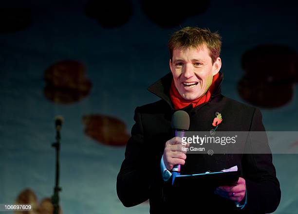 Ben Shephard introduces the Silence In The Square event to mark Remembrance Day on November 11 2010 in London England