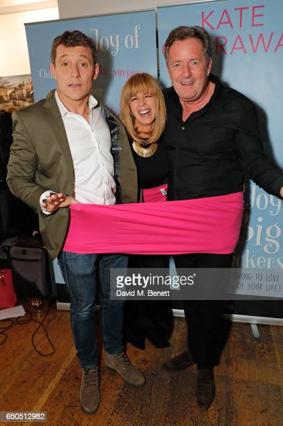 Ben Shephard Kate Garraway and Piers Morgan attend the launch of Kate Garraway's new book 'The Joy Of Big Knickers ' at Waterstones Piccadilly on...