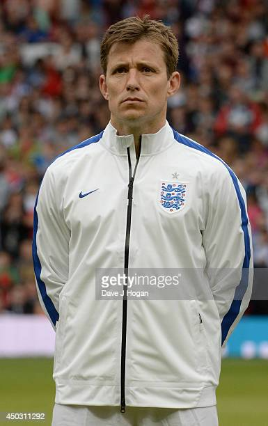 Ben Shephard of England in the team line up ahead of Soccer Aid 2014 at Old Trafford on June 8 2014 in Manchester England