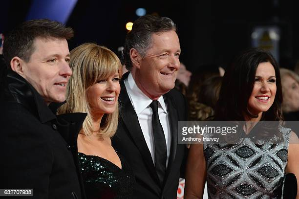 Ben Shepherd Kate Garraway Piers Morgan and Susanna Reid attends the National Television Awards on January 25 2017 in London United Kingdom