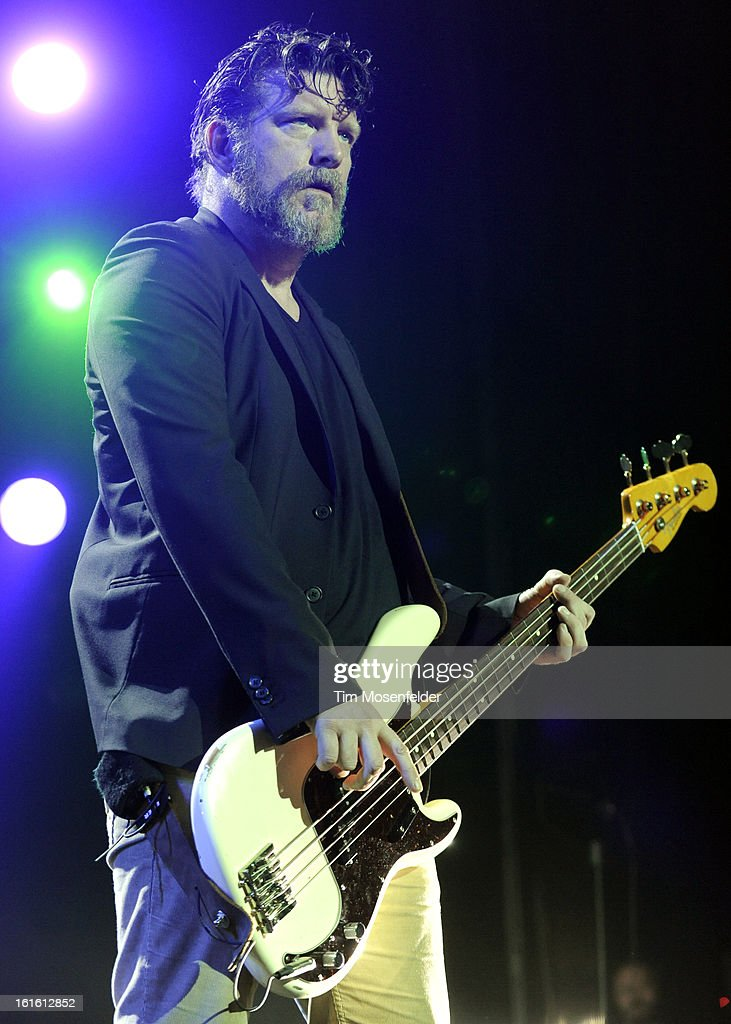 Ben Shepherd of Soundgarden performs in support the bands' King Animal release at The Fox Theatre on February 12, 2013 in Oakland, California.