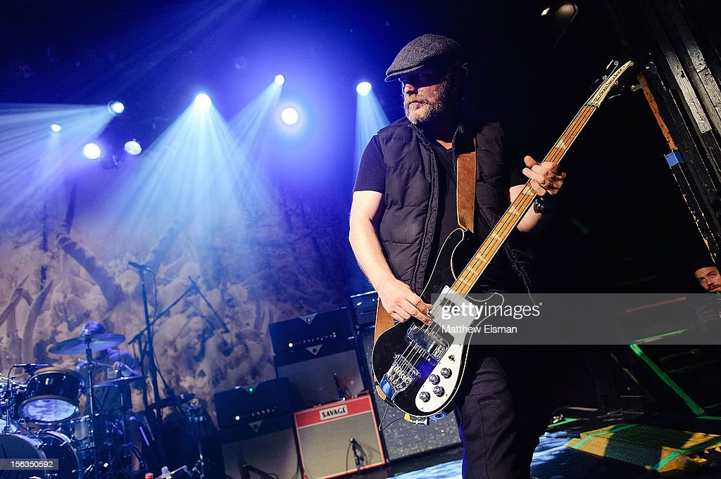 Ben Shepherd of the rock band Soundgarden performs at an intimate show in celebration of their new album 'King Animal' at Irving Plaza on November 13, 2012 in New York City.