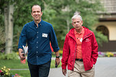 Ben Sherwood cochairman of Disney Media Networks and president DisneyABC Television Group left and Lowell McAdam chairman and chief executive officer...
