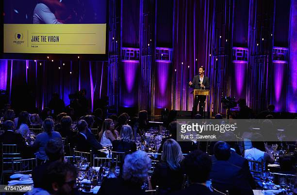 Ben Silverman accepts an award onstage during The 74th Annual Peabody Awards Ceremony at Cipriani Wall Street on May 31 2015 in New York City