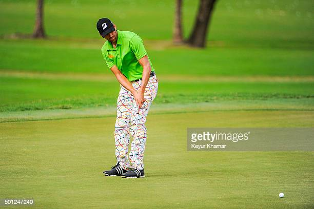 Ben Silverman of Canada putts on the ninth hole green of the Champion Course during the final round of Webcom Tour QSchool at PGA National Resort Spa...