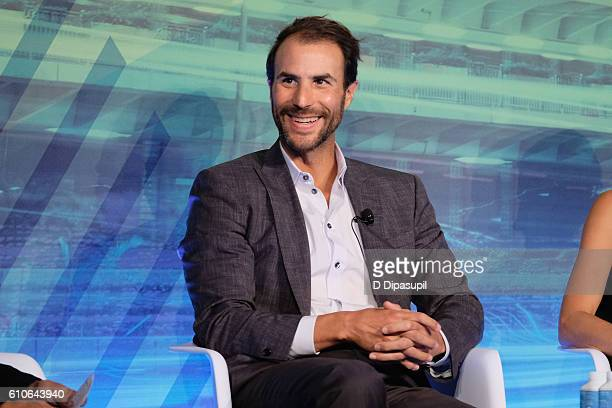 Ben Silverman speak onstage at the STORIES Powered by AE Networks panel at Liberty Theater during 2016 Advertising Week New York on September 27 2016...
