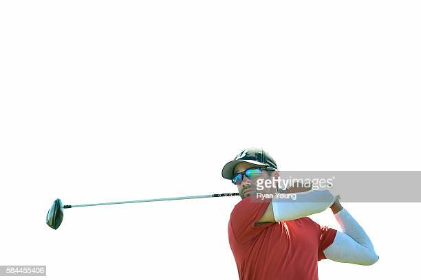Ben Silverman tees off on the eighth hole during the first round of the Webcom Tour Ellie Mae Classic at TPC Stonebrae on July 28 2016 in Hayward...