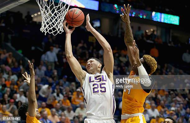 Ben Simmons of the LSU Tigers shoots the ball during the game against the Tennessee Volunteers during the quarterfinals of the SEC Basketball...