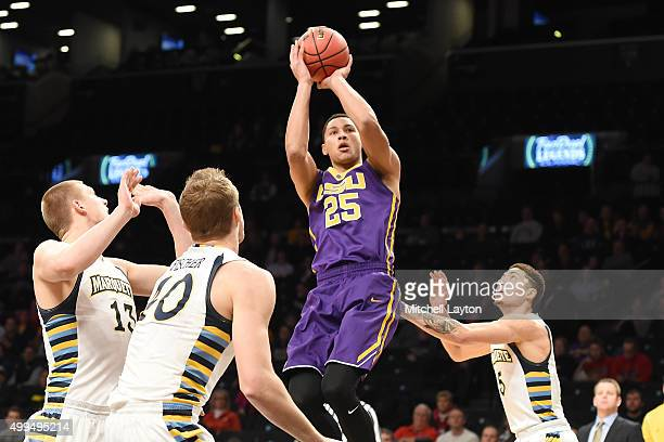 Ben Simmons of the LSU Tigers takes a shot during game one of the Legends Classic college basketball tournament against the Marquette Golden Eagles...