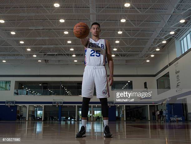 Ben Simmons of the Philadelphia 76ers poses for a picture during media day on September 26 2016 in Camden New Jersey NOTE TO USER User expressly...
