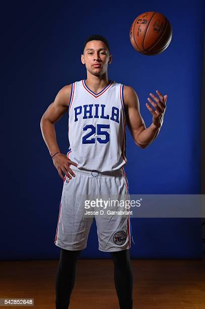Ben Simmons of the Philadelphia 76ers poses for a portrait at the Philadelphia College of Osteopathic Medicine on June 24 2015 in Philadelphia...