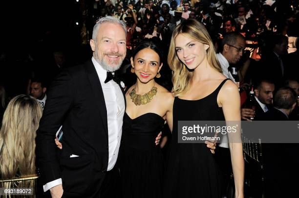 Ben Skinner Shama Amalean and Emily Senko attend the Gordon Parks Foundation Awards Dinner Auction at Cipriani 42nd Street on June 6 2017 in New York...