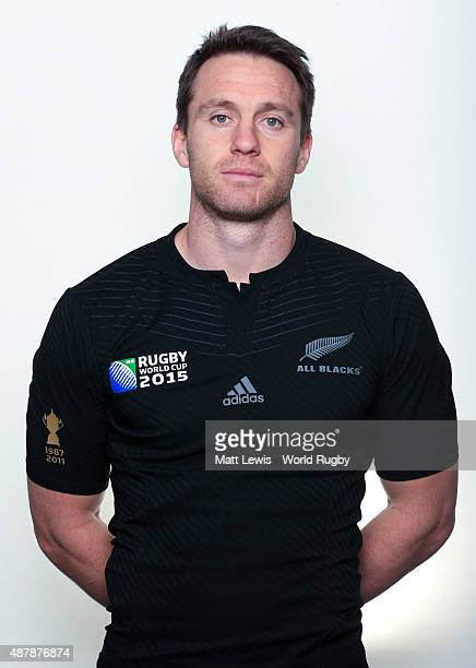 Ben Smith of New Zealand poses for a portrait during the New Zealand Rugby World Cup 2015 squad photo call on September 12 2015 in London England