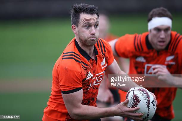 Ben Smith of the All Blacks during a New Zealand All Blacks training session at Trusts Stadium on June 22 2017 in Auckland New Zealand