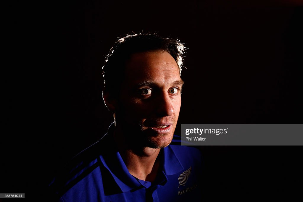 Ben Smith of the All Blacks poses for a portrait during a New Zealand All Blacks media session at the Heritage Hotel on August 13, 2015 in Auckland, New Zealand.