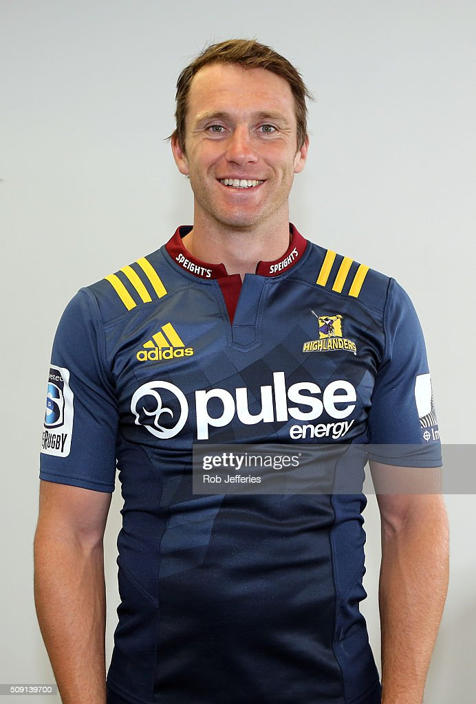 Ben Smith of the Highlanders poses for a photo during a Highlanders portrait session on February 9, 2016 in Dunedin, New Zealand.