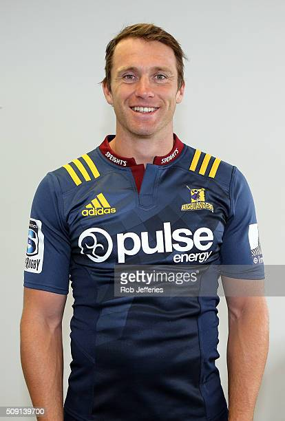 Ben Smith of the Highlanders poses for a photo during a Highlanders portrait session on February 9 2016 in Dunedin New Zealand