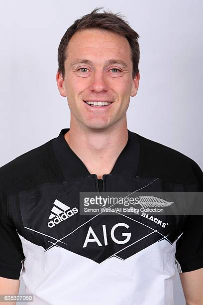 Ben Smith poses during the All Blacks End of Year Tour 2016 Headshots Session at Auckland International Airport Novotel on October 28 2016 in...