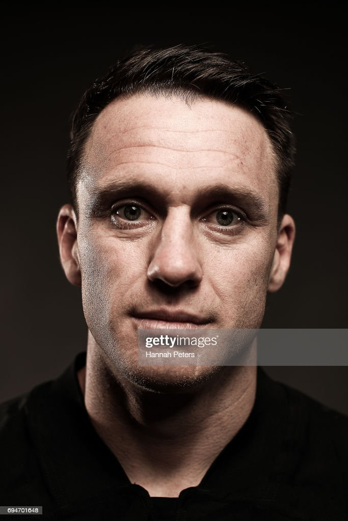 Ben Smith poses for a portrait during the New Zealand All Blacks Headshots Session on June 11, 2017 in Auckland, New Zealand.