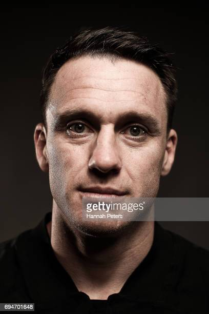 Ben Smith poses for a portrait during the New Zealand All Blacks Headshots Session on June 11 2017 in Auckland New Zealand