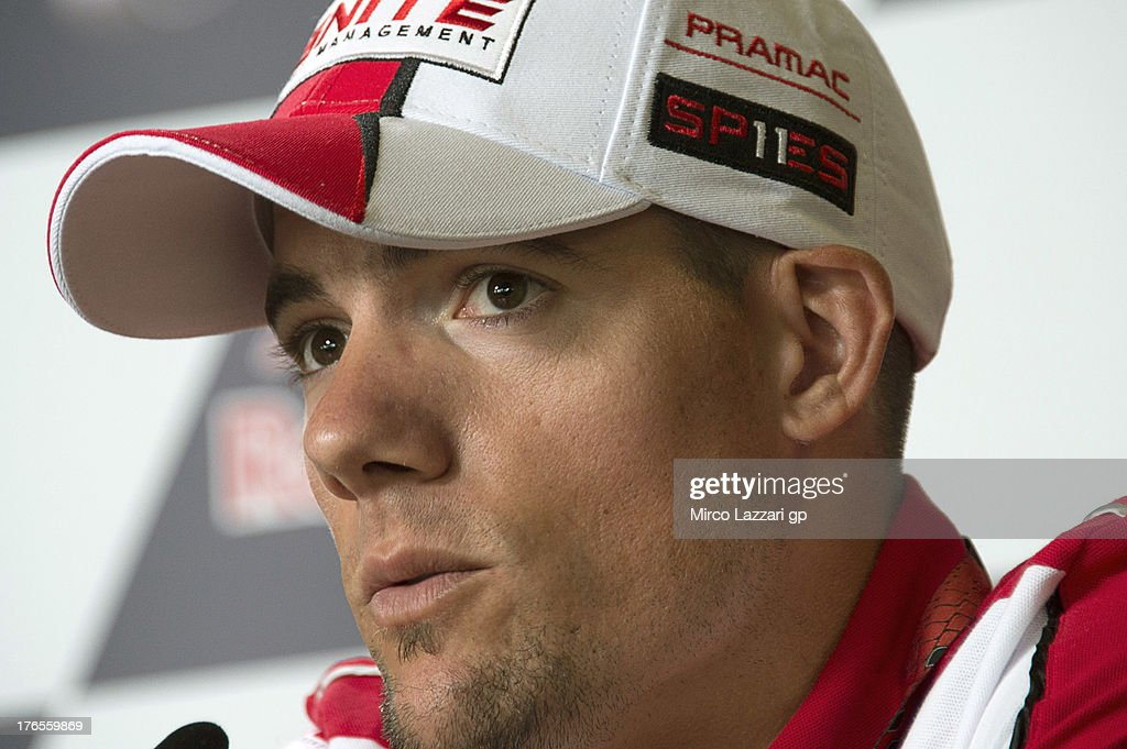 Ben Spies of USA and Ignite Pramac Racing Team looks on during the press conference preevent during the MotoGp Red Bull US Indianapolis Grand Prix...