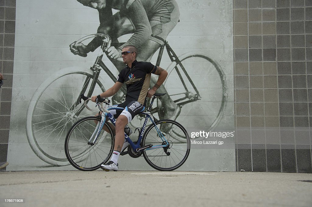 Ben Spies of USA and Ignite Pramac Racing Team poses during the preevent ''Riders riding at Major Taylor Velodrome in Indianapolis'' during the...
