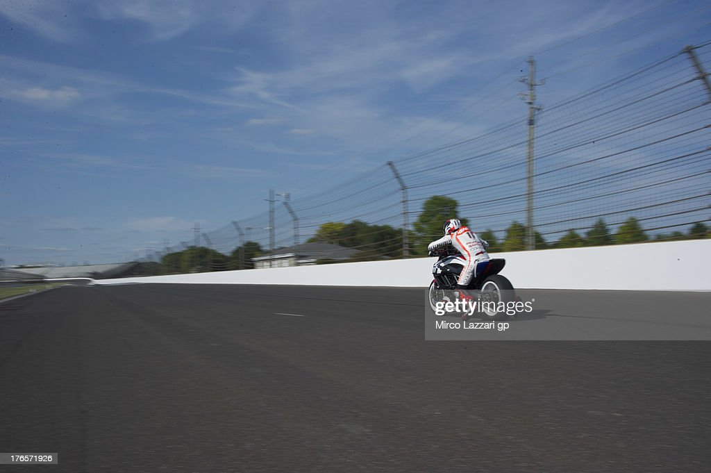 Ben Spies of USA and Ignite Pramac Racing Team rides the Ducati Diavel on track during the MotoGp Red Bull US Indianapolis Grand Prix Previews at...