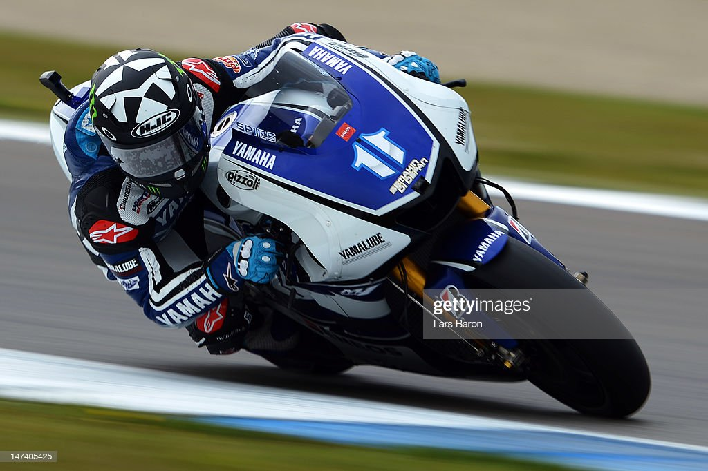 Ben Spies of USA and Yamaha Factory Racing drives during the Qualifying of MotoGp Of Holland at TT Circuit Assen on June 29 2012 in Assen Netherlands