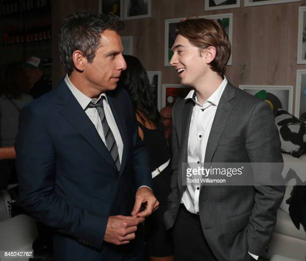 Ben Stiller and Austin Abrams attend the Amazon Studio's TIFF premiere of 'Brad's Status' After Party Hosted By Johnny Walker at Bischa on September...