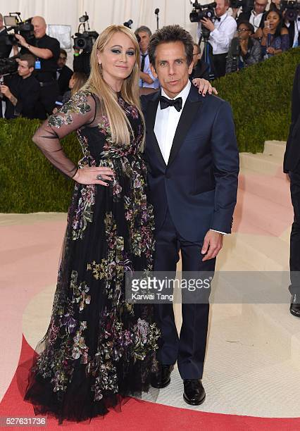 Ben Stiller and Christine Taylor arrive for the 'Manus x Machina Fashion In An Age Of Technology' Costume Institute Gala at Metropolitan Museum of...