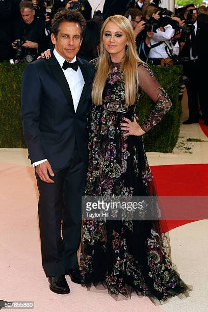 Ben Stiller and Christine Taylor attend 'Manus x Machina Fashion in an Age of Technology' the 2016 Costume Institute Gala at the Metropolitan Museum...
