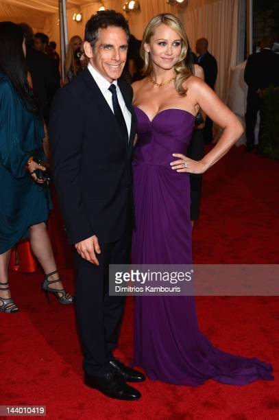 Ben Stiller and Christine Taylor attend the 'Schiaparelli And Prada Impossible Conversations' Costume Institute Gala at the Metropolitan Museum of...